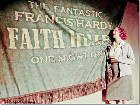 Mary Michell as Grace in a scene from Oak Park Festival Theatre's 'Faith Healer' by Brian Friel.  Photo credit: Michael Rothman