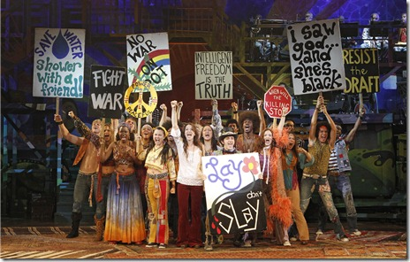 The company from national tour of 'Hair', now playing at The Oriental Theatre.  Photo credit: Joan Marcus