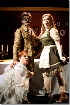 A scene from Elizabeth Meriweather's 'Heddatron', presented by Chicago's Sideshow Theatre.