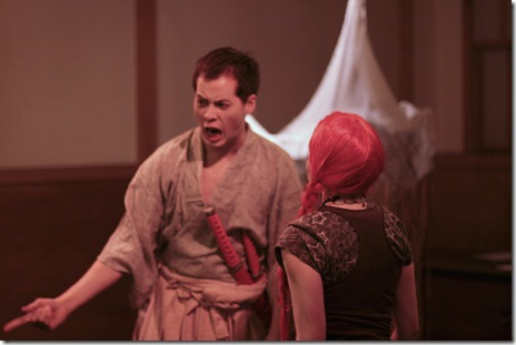 Scene from 'The Man Who Turned Into a Stick' by Kobo Abe, presented by Geopolis Theater Company.