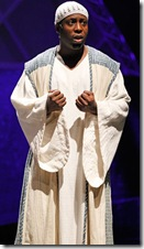 James Earl Jones II stars in Elton John and Tim Rice's Tony Award-winning musical AIDA at Drury Lane Theatre Oakbrook Terrace. Photo credit: Brett Beiner.