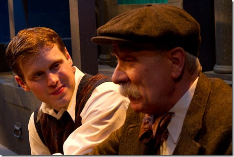 Jay Worthington and Richard Henzel in Gift Theatre's 'Night and Her Stars' by Richard Greenberg.