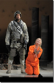 Mackarthur Johnson, Lucy Crowe in Lyric Opera's 'Hercules'. Photo credit: Dan Rest