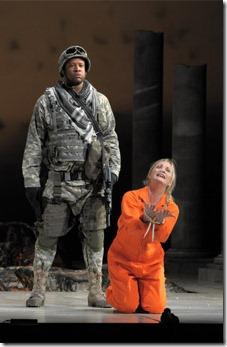 Mackarthur Johnson, Lucy Crowe in Lyric Opera's 'Hercules'. Photo credit: Dan Rest