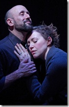 "Mitchell J. Fain and Rebecca Spence in Theater Wit's ""This"". Photo by Johnny Knight."