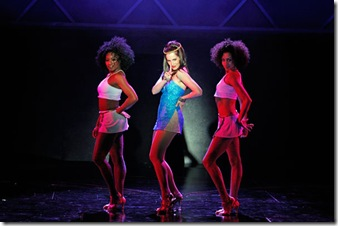 Monique Haley, Erin Mosher and Natalie Williams in a scene from Elton John and Tim Rice's Tony Award-winning musical AIDA at Drury Lane Theatre Oakbrook Terrace. Photo credit: Brett Beiner.