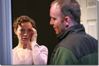 "Rebecca Spence and John Byrnes in Theater Wit's ""This"". Photo by Johnny Knight."