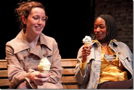 "Rebecca Spence and Lily Mojekwu in Theater Wit's ""This"". Photo by Johnny Knight."