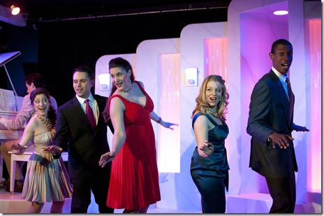 Austin Cook, Dana Tretta, Jeremy Trager, Danni Smith, Sara Schoch and Evan Tyrone Martin in 'Some Enchanted Evening' - Theo Ubique Cabaret Theatre