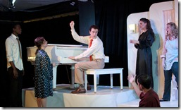 Evan Tyrone Martin, Dana Tretta, Austin Cook, Jeremy Trager Danni Smith and Sara Schoch in 'Some Enchated Evening' - Theo-Ubique Cabaret