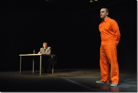 Danne W. Taylor as James Brevoort and Cole Simon as Harrison in Black Elephant Theatre's 'Terre Haute' by Edmund White.