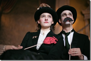 Three Faces of Dr. Crippen - Strange Tree Group - Delia Baseman as Ethel Le Neve and Stuart Ritter as Doctor Crippen.  Photo credit: Tyler Core