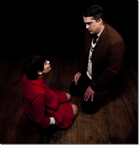 Mishelle Apalategui as young Christopher Robin and Jeremy Menekseoglu as Billy Moon in Dream Theatre's 'The Grisly/Glorious Adventure of Christopher Robin, Winnie-the-Pooh and Billy Moon.