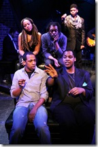"Clockwise from top left: Sharriese Hamilton, Aaron Holland, Jayson ""JC"" Brooks, Osiris Khepera, Steven Perkins. Photo by Jay Kennedy, ©2011 Bailiwick"