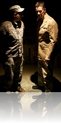 Ben Veatch and Jim Morley in Promethean Theatre Ensemble's 'Bury the Dead' by Irwin Shaw. Photo by Tom McGrath of TCMcG Photography.