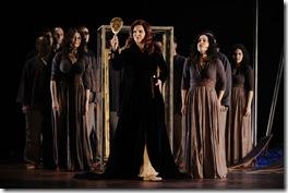 Micaela Oeste as Creuse, with the Ensemble. Photo by Liz Lauren.