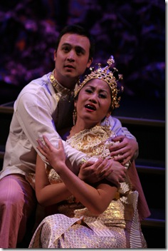 Erik Kaiko as Lun Tha and Jillian Jocson as Tuptim - King and I