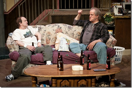 Francis Guinan and Alan Wilder in American Blues Theater's 'Rantoul and Die' by Mark Roberts. Photo by Paul Marchese