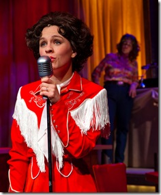 Megan Long as Patsy Cline in Fox Valley Rep's 'Always, Patsy Cline'. Photo by Trademan Photography.