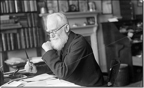 George Bernard Shaw writing