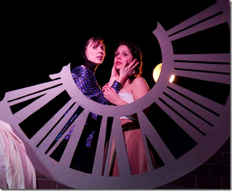 Gillian N. Humiston and Ashley Fox as Romeo and Juliet, presented by Babes With Blades