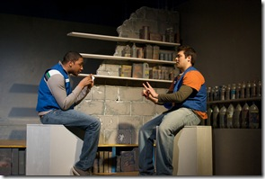 Sentell Harper (Tommy) and Derek Garza (Ebenn) in Mortar Theatre Company's 'I Am Montant'. Photo credit: TCMcG Photography