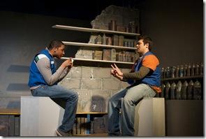 Sentell Harper (Tommy) and Derek Garza (Ebenn) in Mortar Theatre Company's 'I Am Montant'. Photo credit: TCMcG Photography