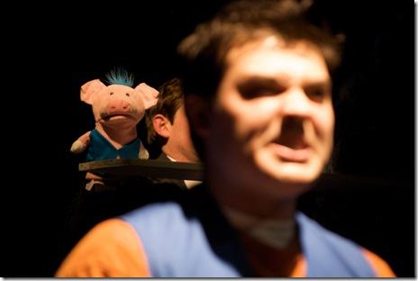 Nicholas Roy Caesar (Valupig) and Derek Garza (Ebenn) in Mortar Theatre Company's 'I Am Montana'. Photo credit: TCMcG Photography