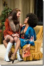 Ensemble member Kate Arrington and De'Adre Aziza
