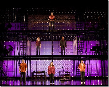 The cast of 'Next to Normal' - Clockwise from top: Curt Hansen, Jeremy Kushnier, Preston Sadleir, Emma Hunton, Asa Somers, and Alice Ripley