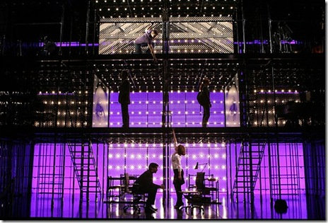 "The cast of ""Next to Normal"", now playing at the Bank of America Theatre in downtown Chicago. Photo by Joan Marcus."