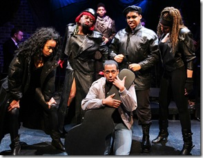 "Clockwise from left: Whitney White, Aaron Holland, Jayson ""JC"" Brooks, Osiris Khepera, Sharriese Hamilton, Steven Perkins. Photo by Jay Kennedy"