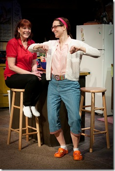 Kate Buddeke and Cheryl Graeff in American Blues Theater's 'Rantoul and Die' by Mark Roberts. Photo by Paul Marchese