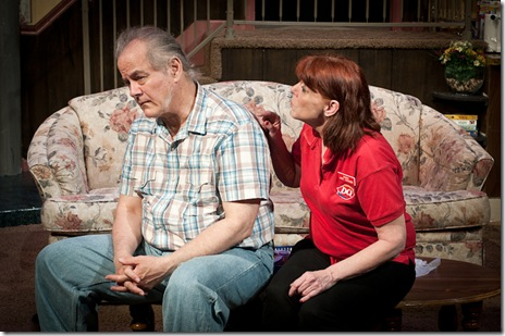 Francis Guinan and Kate Buddeke in American Blues Theater's 'Rantoul and Die'. Photo by Paul Marchese
