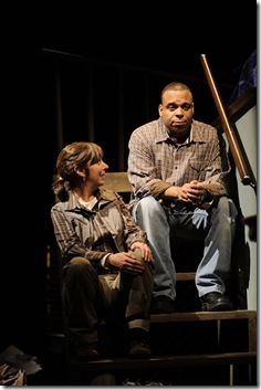 Elaine Rivkin and Aaron Todd Douglas in Victory Garden's 'Tree', written by Julie Hébert. Photo by Liz Lauren.