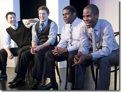 (L-R) Timothy Edward Mason, Tim Robinson, Sam Richardson, Edgar Blackmon • Photo by Michael Brosilow