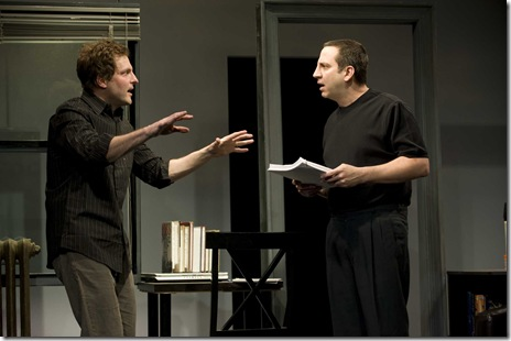 Sean Cooper and Marc Grapey in Next Theatre's 'The Metal Children' by Adam Rapp. Photo credit: Michael Brosilow