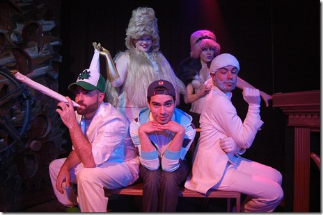 The cast of MidTangent Production's 'Twinkie and the Beast' at Hydrate Night Club in Chicago