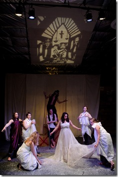 A scene from State Theatre's 'Voodoo Chalk Circle'