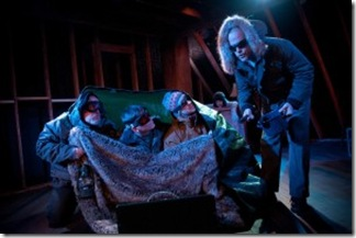 Tom Hickey, Michael Dailey, John Ferrick in Strawdog Theatre's 'The Conquest of the South Pole'. Photo by Chris Ocken