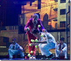 An act from Cirque Eloize's 'iD', at Chicago's Cadillac Palace Theatre. Photo by Valerie Remise.
