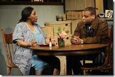 Celeste Williams and Aaron Todd Douglas in Victory Garden's 'Tree', written by Julie Hébert. Photo by Liz Lauren.