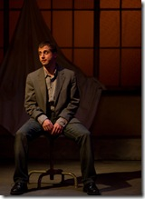"Tony Bozzuto in Backstage Theatre's ""Three Days of Rain"" by Richard Greenberg. (photo: Hays)"