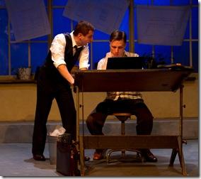 "Tony Bozzuto & John Henry Roberts in Backstage Theatre's ""Three Days of Rain"" by Richard Greenberg. (photo: Hays)"