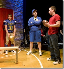 "Cameron Harms, Jeff Duhigg and Ryan Lempka in Griffin Theatre's ""No More Dead Dogs"""