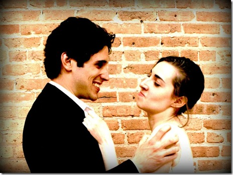 "John Taflan and Jamie Bragg in Chicago Fusion Theatre's ""Big Love"" by Charles Mee"