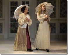 "Stephanie Stockstill (Anne) and Deanna Boyd (Charlotte) in Stephen Sondheim's ""A Little Night Music"" at Circle Theatre."