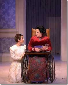 "Alicia Hurtado (Fredrika) and Patti Roeder (Madame Armfeldt) in Stephen Sondheim's ""A Little Night Music"", now at Circle Theatre in Oak Park."