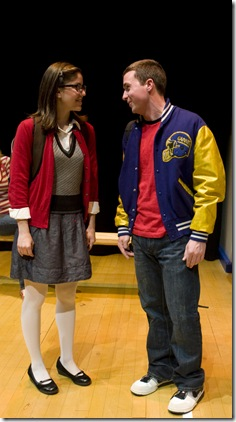 "Ellie Reed and Ryan Lempka in Griffin Theatre's ""No More Dead Dogs"""