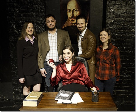 "The cast of American Demigods' ""Erratica"" by Reina Hardy, now playing at The Second Stage, 3408 N. Sheffield."